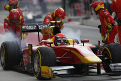 Alexander Rossi, Racing Engineering, makes a pit stop