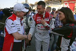 Andre Lotterer, Audi Sport Team Joest with Cyndie Allemann and Wolfgang Porsche, Chairman of the Supervisory Board of Porsche AG