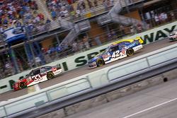 Austin Dillon, Richard Childress Racing Chevrolet and Kyle Larson, Hscott Motorsports Chevrolet