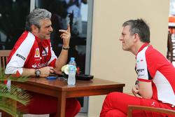 (从左到右):毛里奇奥·阿里瓦贝内,法拉利车队领队;詹姆斯·埃里森,法拉利技术总监