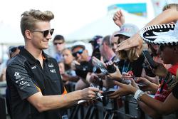 Nico Hulkenberg, Sahara Force India F1 met fans