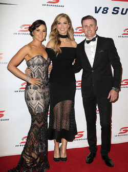Mark Winterbottom, Prodrive Racing Australia Ford with his wife Renée Winterbottom and Delta Goodrem