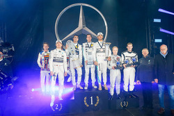 Sebastian Asch, Luca Ludwig, Nico Rosberg, Mercedes AMG F1, Pascal Wehrlein, Daniel Juncadella, Lewis Hamilton, Mercedes AMG F1,  Felix Rosenquist, Mick Schumacher, Prof. Dr. Thomas Weber, member of the Board of Management of Daimler AG, Dr. Dieter Zetsche
