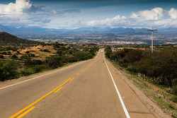 The open road in Argentina