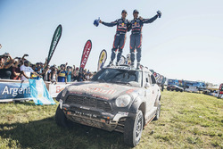Car category second place Nasser Al-Attiyah and Matthieu Baumel