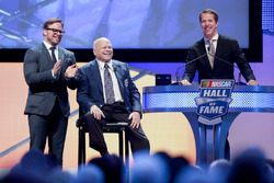 Marcus Smith and his father, Bruton Smith and Brad Keselowski