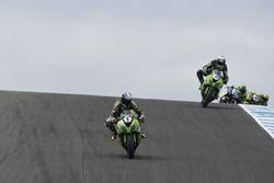 Kenan Sofuoglu, Puccetti Racing Kawasaki and Randy Krummenacher, Puccetti Racing Kawasaki