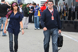 Raquel Rosario Wife of Fernando Alonso and Luis Garcia Abad, Manager of Fernando Alonso