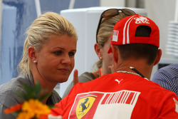 Corina Schumacher, Corinna, Wife of Michael Schumacher and Michael Schumacher, Test Driver, Scuderia Ferrari