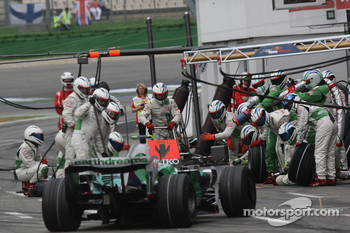 Rubens Barrichello, Honda Racing F1 Team, RA108, Pitstop