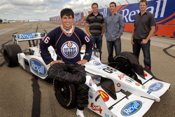 Graham Rahal sports the copper and blue of the hometown Edmonton Oilers, special Rahal jersey #06, as Rexall has signed on as the title sponsor of the Newman/Haas/Lanigan Racing car  for the 2008 Rexall Edmonton Indy