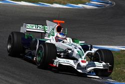 Jenson Button, Honda Racing F1 Team, RA108, with new shark fin engine cover