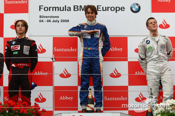 1st, Esteban Gutierrez, Josef-Kaufmann-Racing, 2nd, Pedro Bianchini, FMS International, 3rd, Adrien Tambay, Eifelland Racing