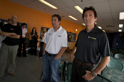 Drivers and media go-kart event: Scott Wimmer and Ron Fellows