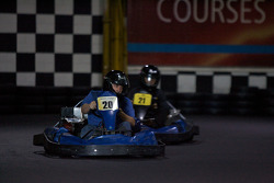 Drivers and media go-kart event: a competitor