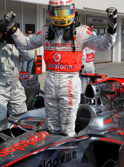 Lewis Hamilton, McLaren Mercedes, in pole position