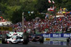 Rubens Barrichello, Honda Racing F1 Team, RA108 leads Sebastian Vettel, Scuderia Toro Rosso, STR03