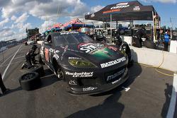 Pit stop for #70 SpeedSource Mazda RX-8: Nick Ham, Sylvain Tremblay