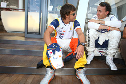 Fernando Alonso, Renault F1 Team and Robert Kubica,  BMW Sauber F1 Team