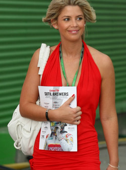 Girlfriend of Timo Glock, Toyota F1 Team