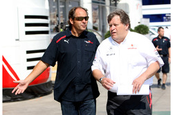 Gerhard Berger, Scuderia Toro Rosso, 50% Team Co Owner and Norbert Haug, Mercedes, Motorsport chief