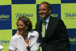 Podium: Rita Barbera, Mayor of Valencia and Francisco Camps, PP President of the Valencia Region