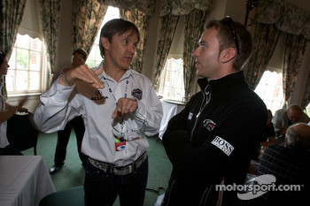 Detroit Grand Prix media lunch at the Detroit Yacht Club: Adrian Fernandez and Timo Bernhard