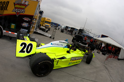 Vision Racing car of Ed Carpenter back from technical inspection