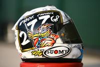 Шлем Лориса Капиросси в честь 277 старта в Гран-при
