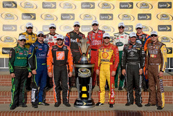 Matt Kenseth, Greg Biffle, Denny Hamlin, Carl Edwards, Dale Earnhardt Jr., Jeff Burton, Jeff Gordon, Jimmie Johnson, Tony Stewart, Kevin Harvick, Clint Bowyer and Kyle Busch qualify for the 2008 Chase for the NASCAR Sprint Cup