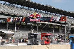 Red Bull signage is displayed everywhere