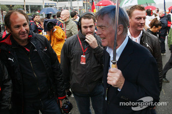 Max Mosley, FIA President and Gerhard Berger, Scuderia Toro Rosso, 50% Team Co Owner