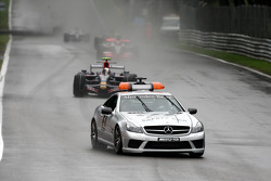 The race starts under the safety car