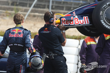 Sebastian Vettel, Red Bull Racing, Stopped on track