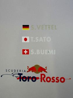 Scuderia Toro Rosso, Sebastian Vettel, Scuderia Toro Rosso, Takuma Sato, Scuderia Toro Rosso, and Sebastien Buemi