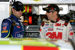 Greg Biffle talks with Jimmie Johnson