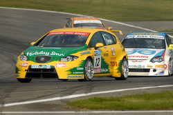 Darren Turner leads Andrew Jordan and Gordon Shedden