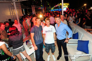 Red Bull Party at Sentosa Island: Mark Webber, Sebastian Vettel and David Coulthard