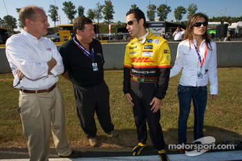 Helio Castroneves with his charming friend