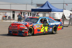 Jeff Gordon heads to the garage for damage repair