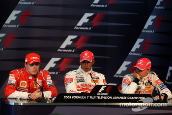 Post-qualifying press conference: pole winner Lewis Hamilton, second place Kimi Raikkonen, third place Heikki Kovalainen