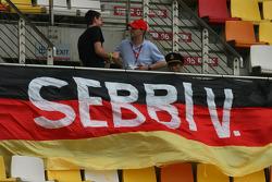Sebastian Vettel, Scuderia Toro Rosso fans flag