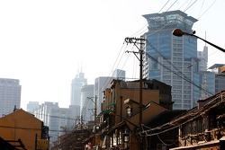 Shanghai's old and new parts