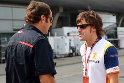 Gerhard Berger and Fernando Alonso
