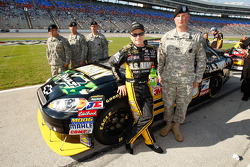 Mark Martin and U.S. soldiers