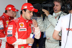 Pole winner Felipe Massa, third Kimi Raikkonen