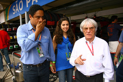 Representatives of The Rio 2008 Olympic Bid with Bernie Ecclestone, President and CEO of Formula One Management