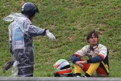 Nelson A. Piquet, Renault F1 Team crashed