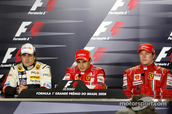 Post-race press conference: race winner Felipe Massa, second place Fernando Alonso, third place Kimi Raikkonen