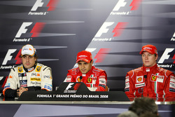 Post-race press conference: race winner Felipe Massa, second place Fernando Alonso, third place Kimi Raikkonen